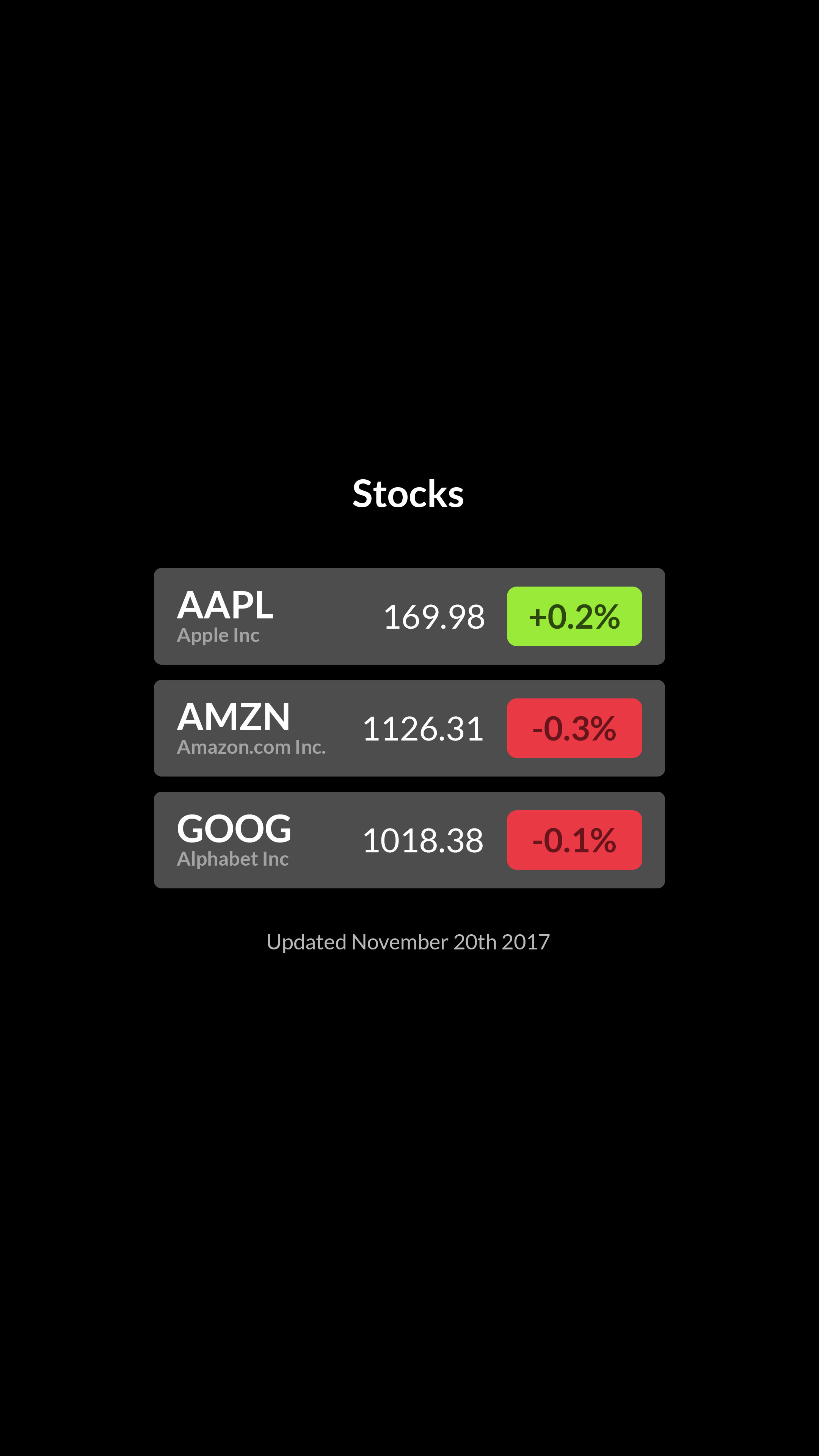 Stocks screenshot 4