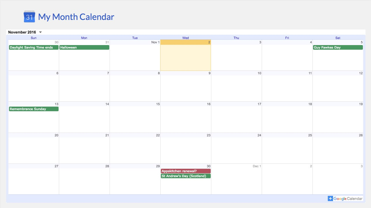 Google Calendar (legacy) screenshot 1