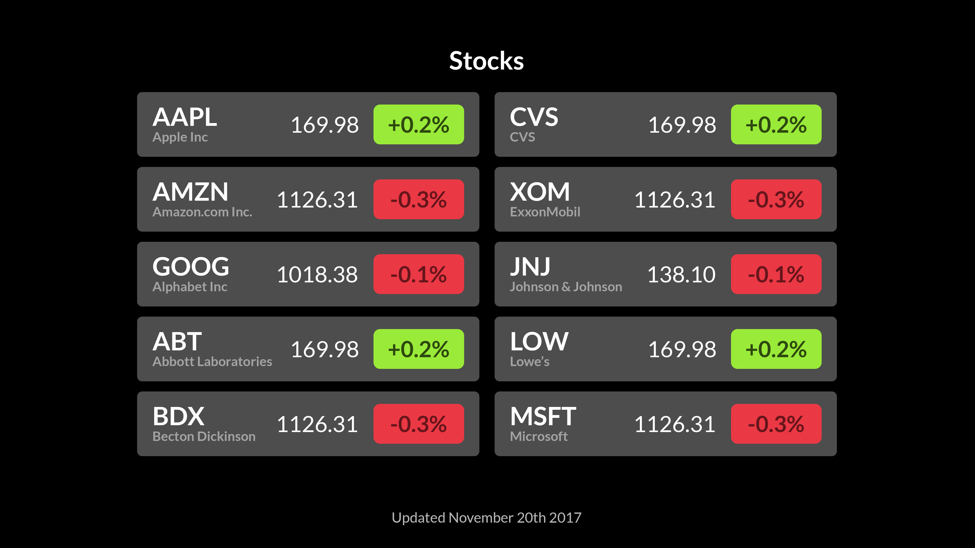 Stocks screenshot 3