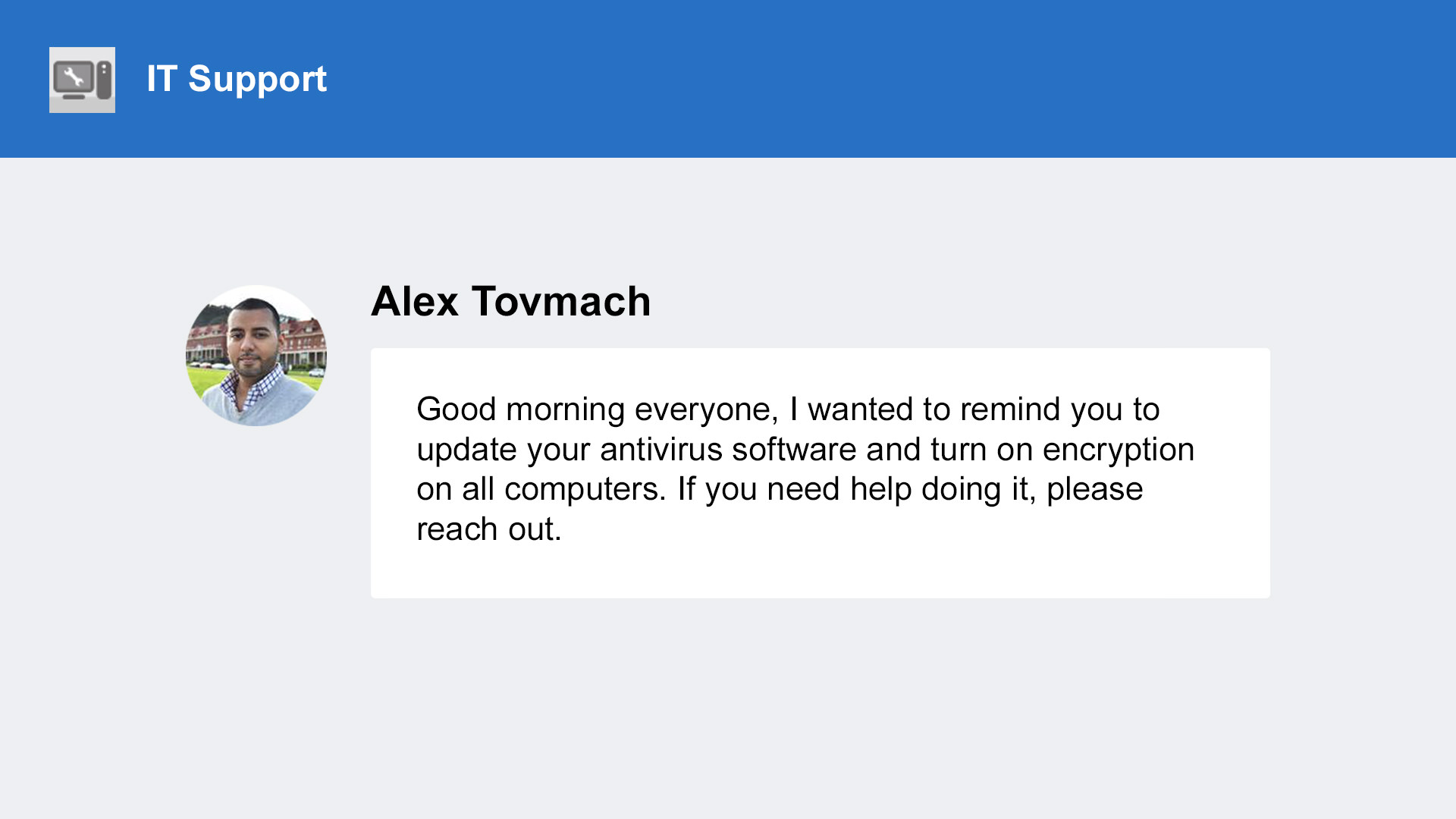 Yammer screenshot 2