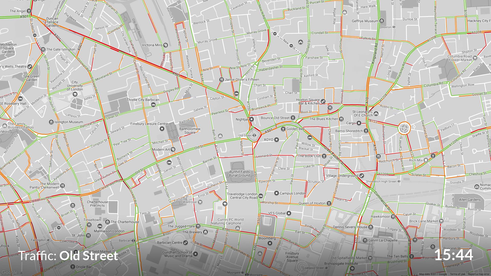 Google Traffic screenshot 1