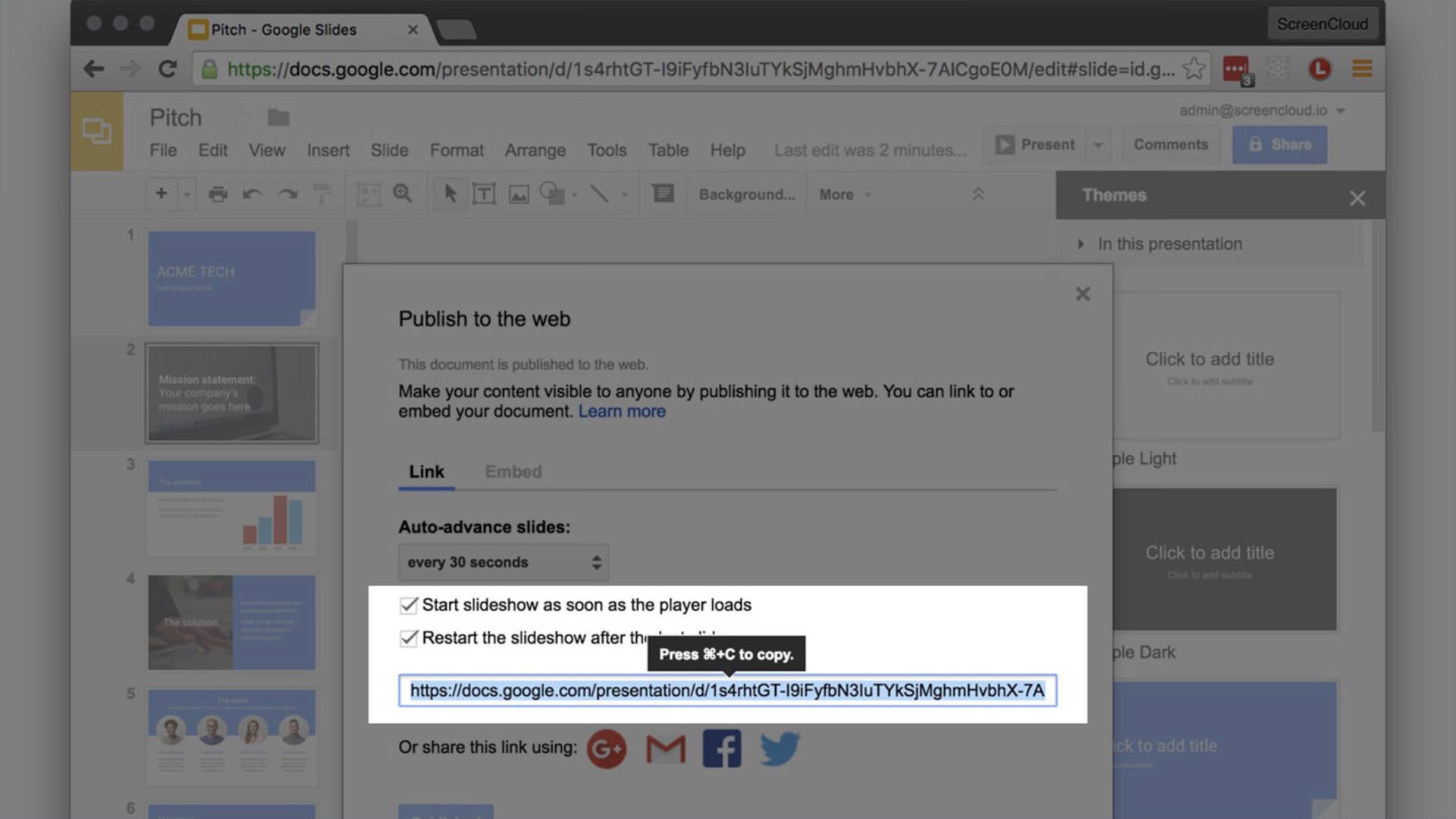 Google Slides screenshot 1