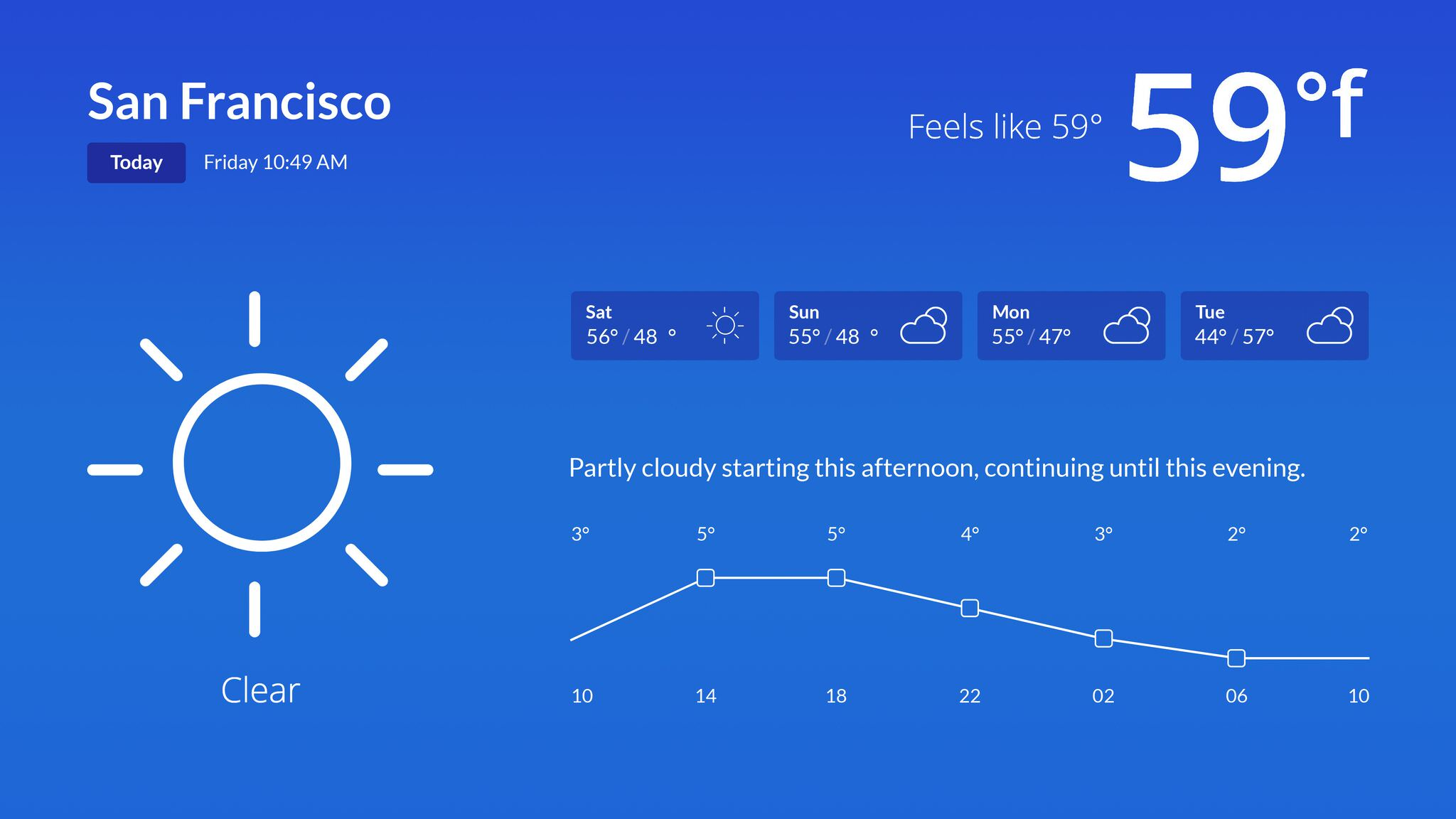 Weather screenshot 1