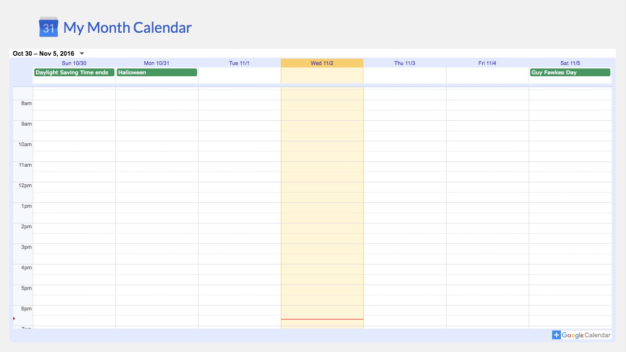 Google Calendar (legacy) screenshot 2