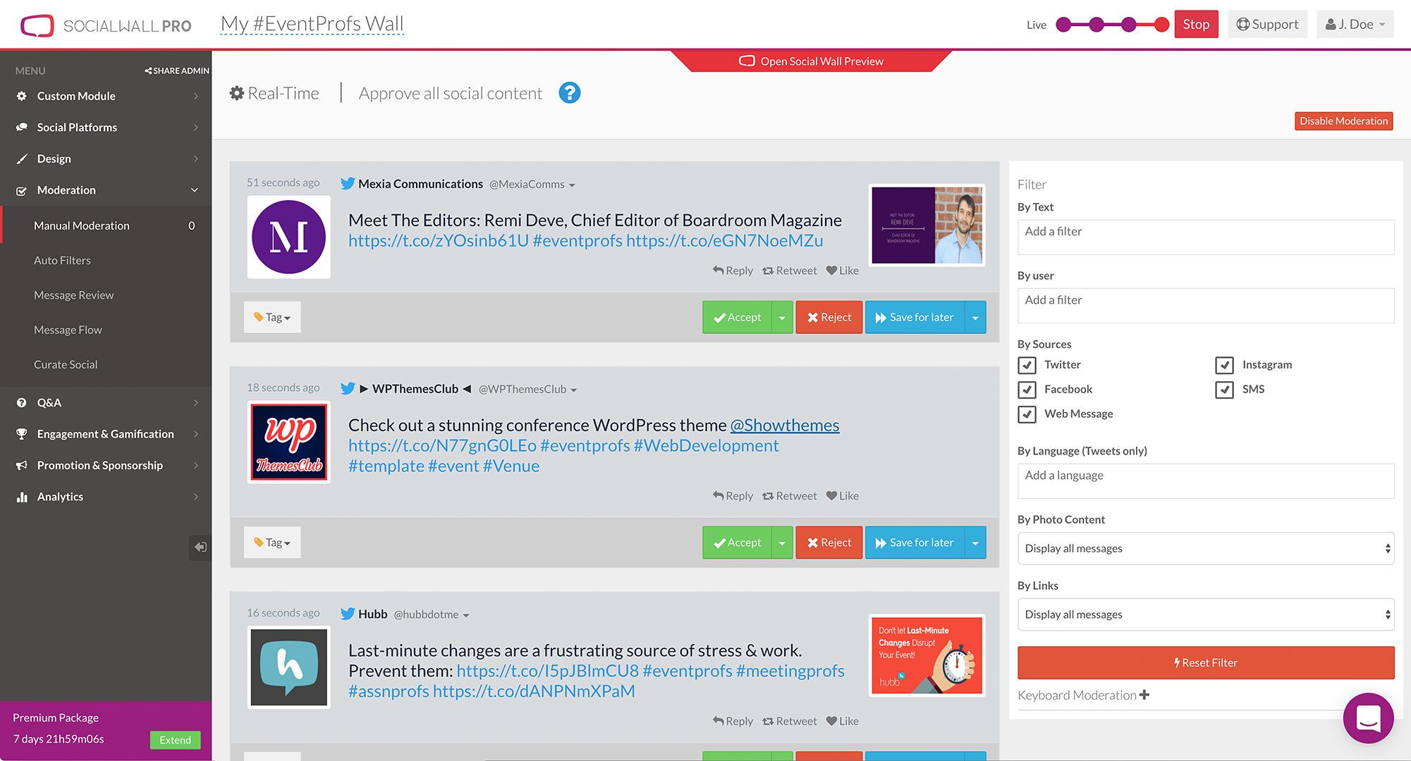 SocialWall Pro screenshot 3